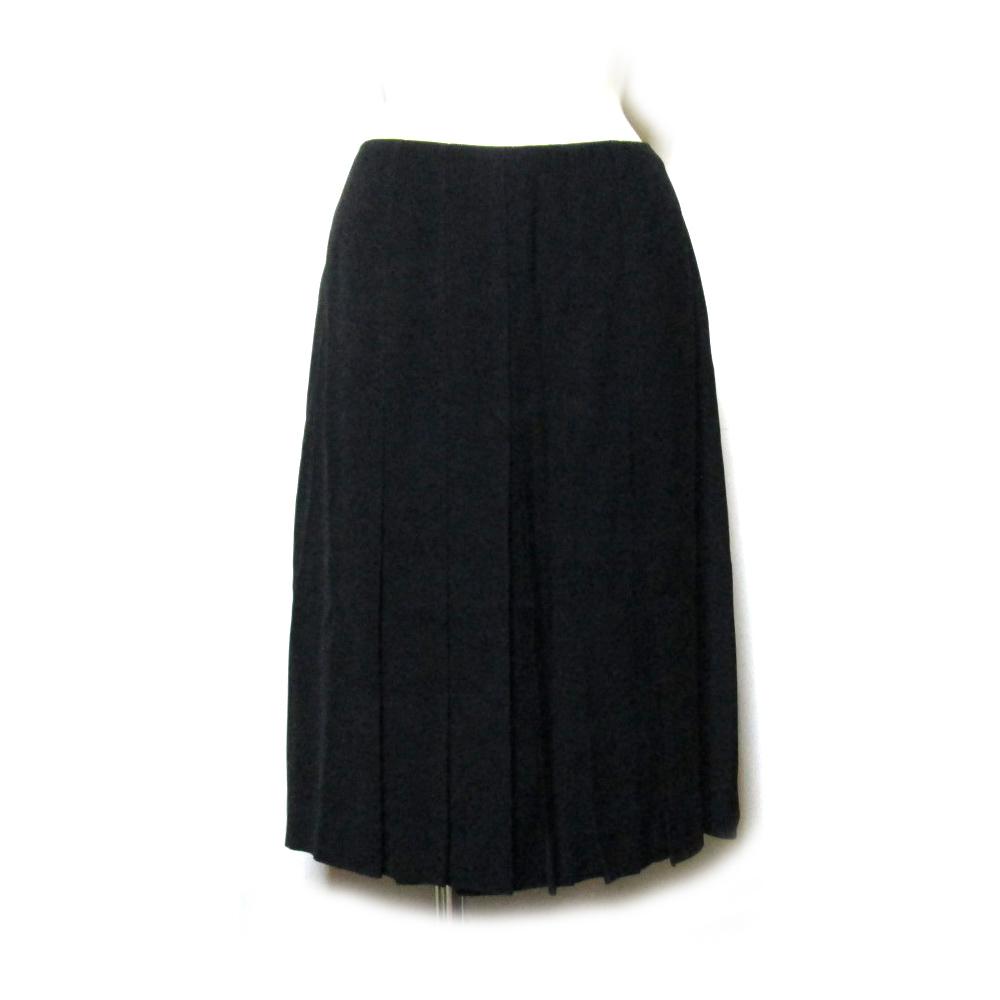 美品 Jean Paul GAULTIER ジャンポールゴルチエ 「40」 プリーツ切り替えスカート (黒 ゴルチェ ) 129108 【中古】