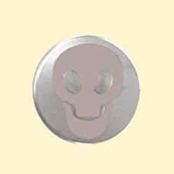 헬멧의 쉴드를 붙이는 버튼에 붙이는 신감각 액세서리!스컬 닷 버튼/DAMMTRAX(담트락스) 오토바이용 액세서리