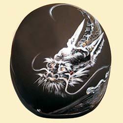 絵師による、1点ごとに手描きで龍が描かれたハーフヘルメット!ドラゴンヘルメット01/CROW(クロウ)バイク用