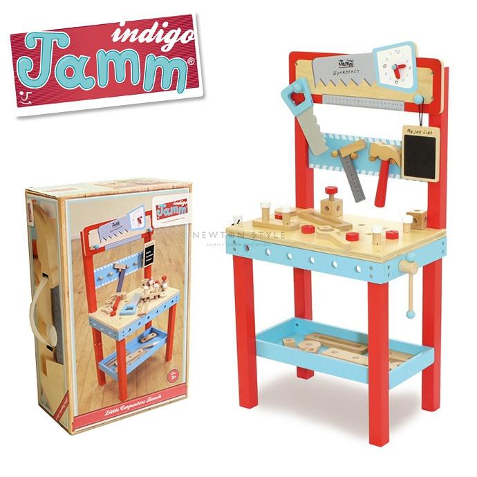 indigo Jamm インディゴジャム リトルカーペンターベンチ 大工のおもちゃ 木のおもちゃ 工具 ハンマー スパナ おしゃれ ギフト プレゼント 誕生日 お祝い (ネコポス不可) 5000円以上 送料無料