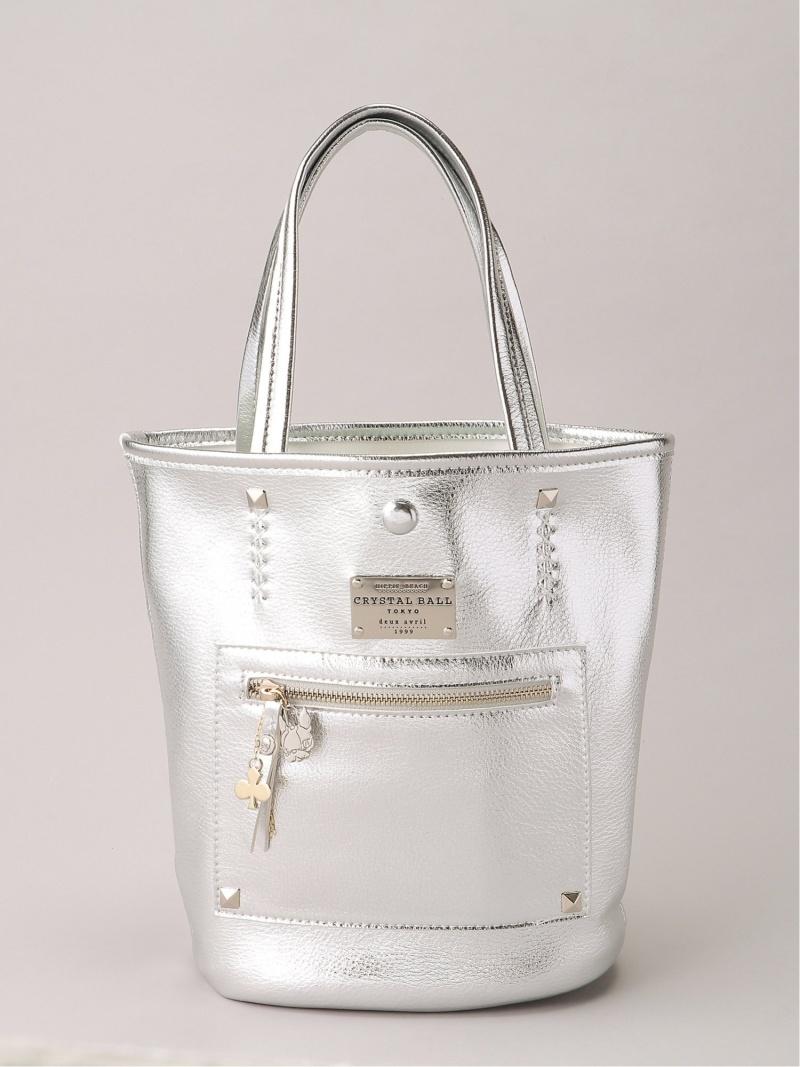 [Rakuten Fashion]Shiny bag with CB pouch CRYSTAL BALL クリスタルボール バッグ トートバッグ シルバー【送料無料】