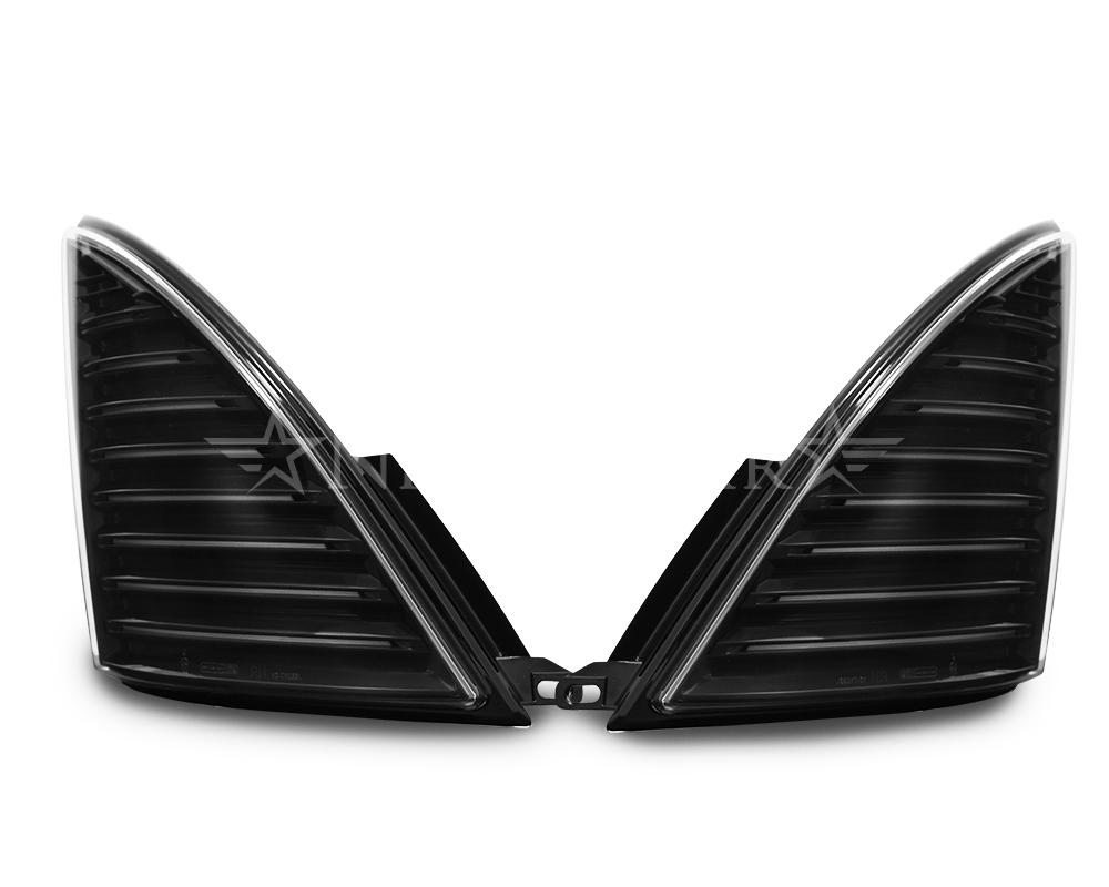 明るさ 視認性抜群 車検対応で安心 安全なウインカー 車検対応 日野レンジャープロ コーナーウインカー流れるシーケンシャルリレー 前期 直輸入品激安 ファイバーLEDフロントウインカー モデル着用 注目アイテム ブラック 左右セットナイトスター