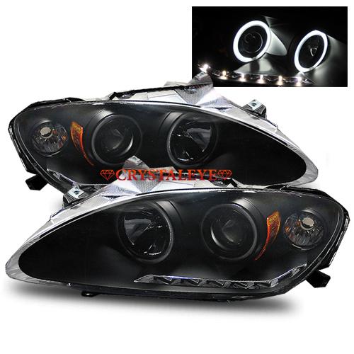 ホンダ S2000 前期用LA-AP1/ABA-AP2CCFLイカリング プロジェクター6連LEDポジション付きヘッドライトブラックタイプ クリスタルアイ
