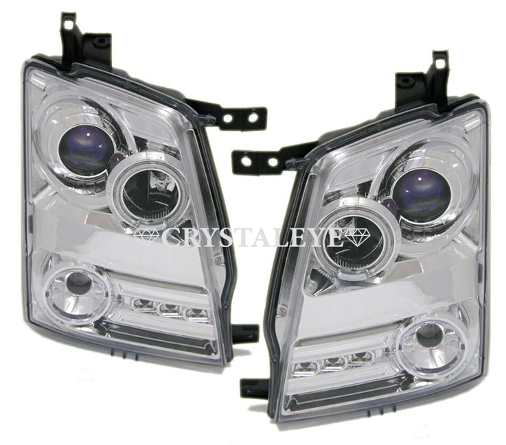 LEDテールと同時購入お勧め クリスタルアイMJ21S 正規認証品!新規格 22S 大幅値下げランキング AZワゴン ワゴンR SMD ダイヤモンドLEDイカリングプロジェクターヘッドライトクロームタイプ