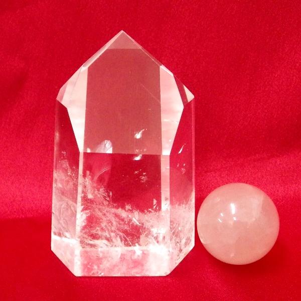 【水晶ポイント】ブラジル産最高品質 水晶原石ポイント(六角柱) 小型サイズ (重さ159g 高さ約5.3cm)★写真現品販売