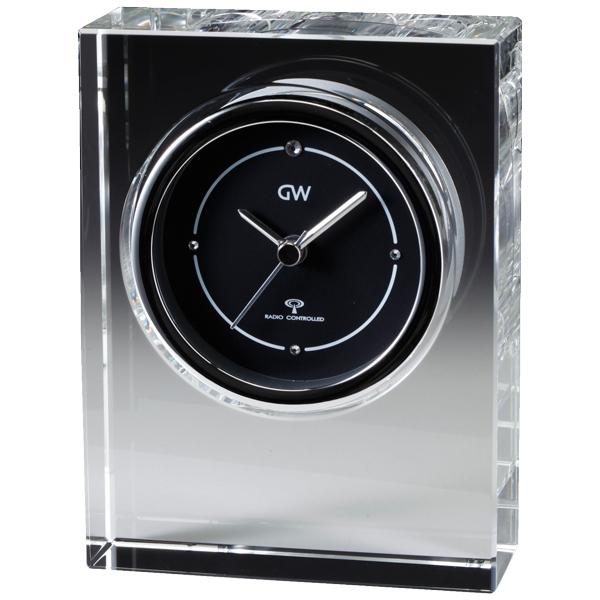 クリスタル電波時計 ノヴァ グラスワークスナルミ