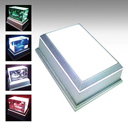 クリスタルをより輝かせるLEDライトステージです。レーザー彫刻されたクリスタルをより幻想的に!ハーバリウム展示に最適です。 【新型LEDチップ・NKLS-46SL単品】 LEDライトステージ ディスプレイライト 台座 スイッチ切り替え単色モード搭載 フィギュアやディスプレイ展示に ハーバリウム展示に