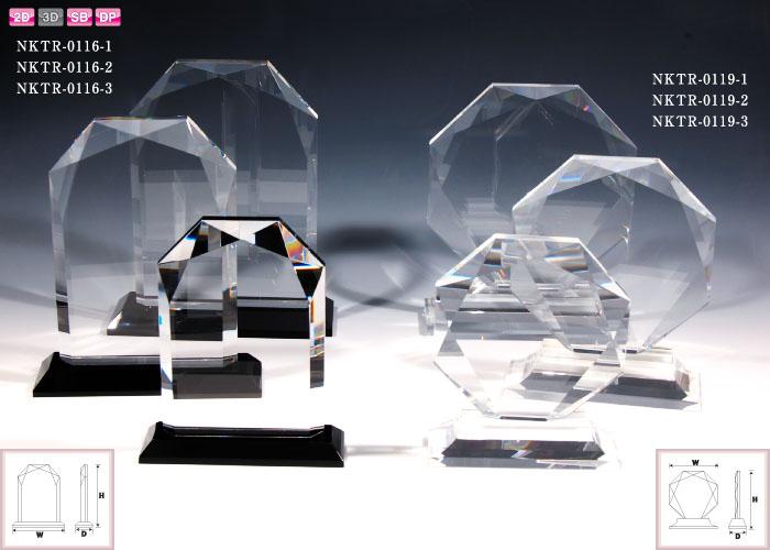 クリスタル盾 ダイヤカットプレートタイプ(小)10本おまとめ お見積商品
