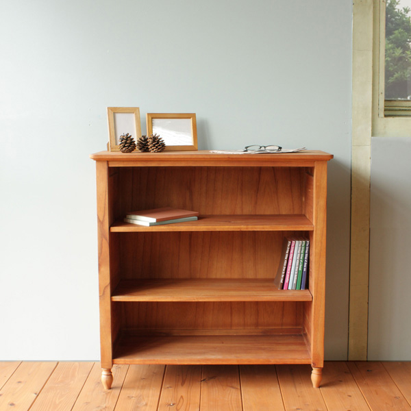 [ Minette book shelf(L) ] ミネット MNT-BS80 シェルフ ラック 4段 収納 キャビネット 木製 smtb北欧 かわいい おしゃれ