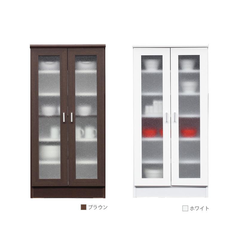 開梱設置無料 キッチン収納 スリム キャビネット キッチンキャビ 幅60cm 選べる2色 食器棚 コンパクト レンジ台 キッチン カウンター おしゃれ 北欧 開き戸収納 収納 ホワイト 白 ブラウン 木製 木製収納