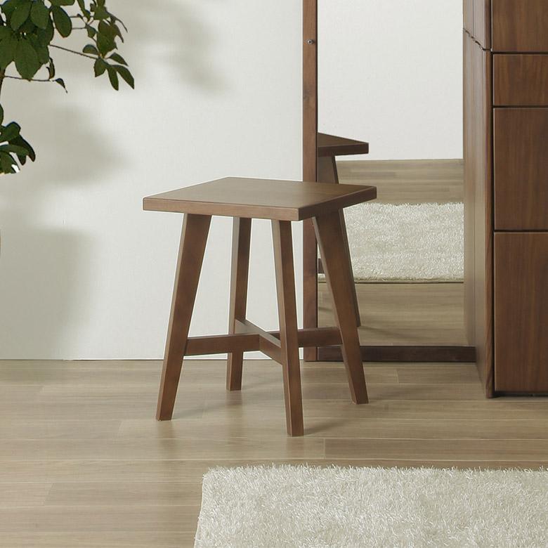スツール いす 椅子 おしゃれ 北欧 アンティーク 木製 木製椅子 木製スツール コンパクト シンプル 30cm幅 正方形 ステップ台 ステップ 踏み台 ウォールナット ブラウン
