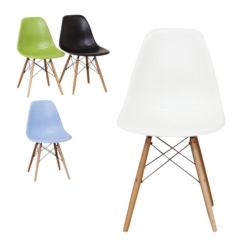 イームズチェア 木製脚 イームズ チェアイームズチェアー 木製 木脚 木製チェア パーソナルチェア チェアー 椅子 いす グリーン ブルー ホワイト ブラック 送料無料