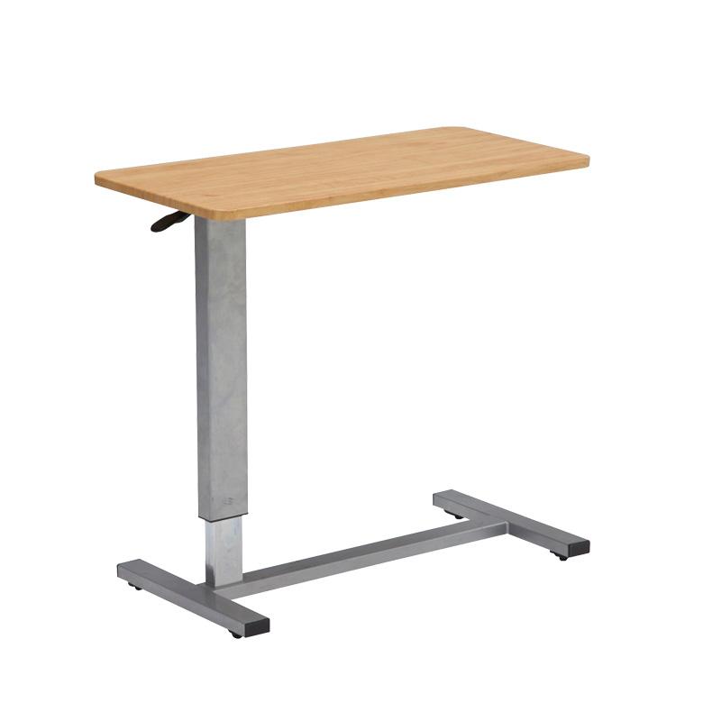 昇降テーブル 昇降サイドテーブル サイドテーブル ベッドテーブル 木製 木製テーブル テーブル 伸張 高さ調整 360度回転 キャスター付 ライトブラウン ダークブラウン ナチュラル DW-1320 送料無料