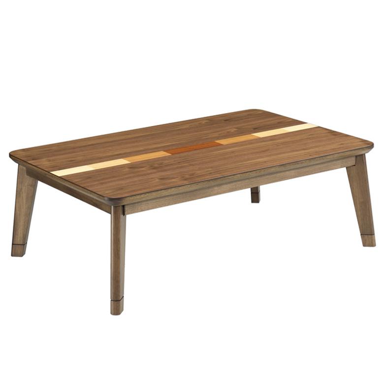 家具調こたつ 幅105cm こたつ 暖卓 こたつテーブル こたつ本体のみ こたつ本体 テーブル センターテーブル テーブルのみ 木製 木 ウォールナット 象篏細工 象篏 ブラウン 座卓 座卓テーブル 手元コントローラー
