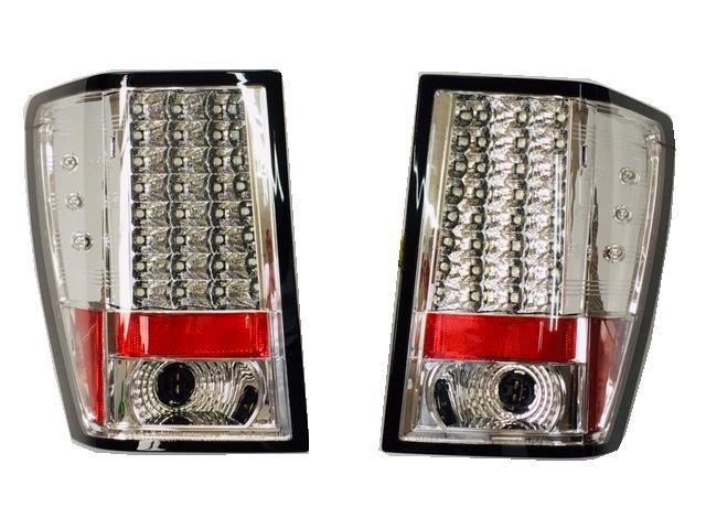 クライスラー グランドチェロキー LEDテール クロームメッキ 08-10