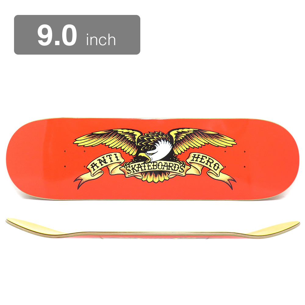 ANTIHERO DECK アンチヒーロー デッキ TEAM CLASSIC EAGLES ORANGE 9.0 スケートボード スケボー SKATEBOARD