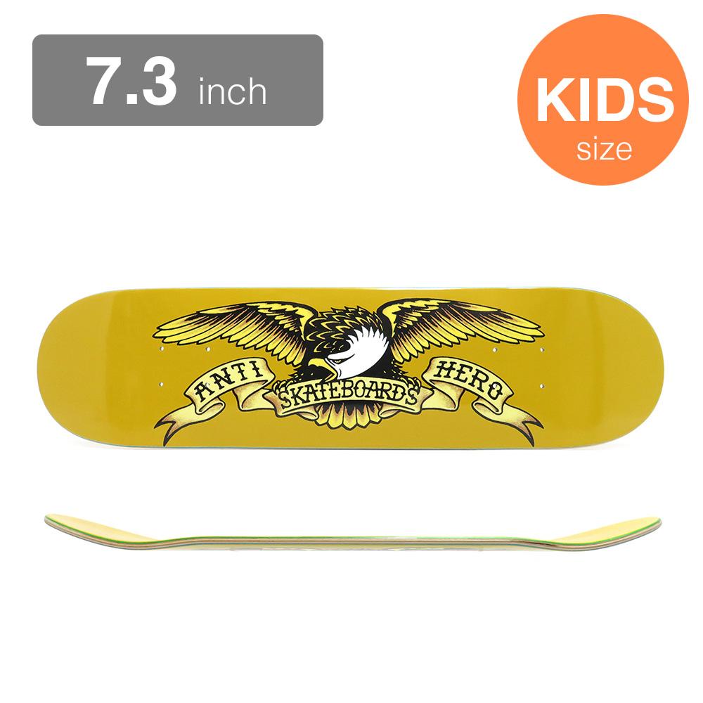 ANTIHERO KIDS DECK アンチヒーロー 子供用デッキ TEAM CLASSIC EAGLE MINI YELLOW 7.3 スケートボード スケボー SKATEBOARD