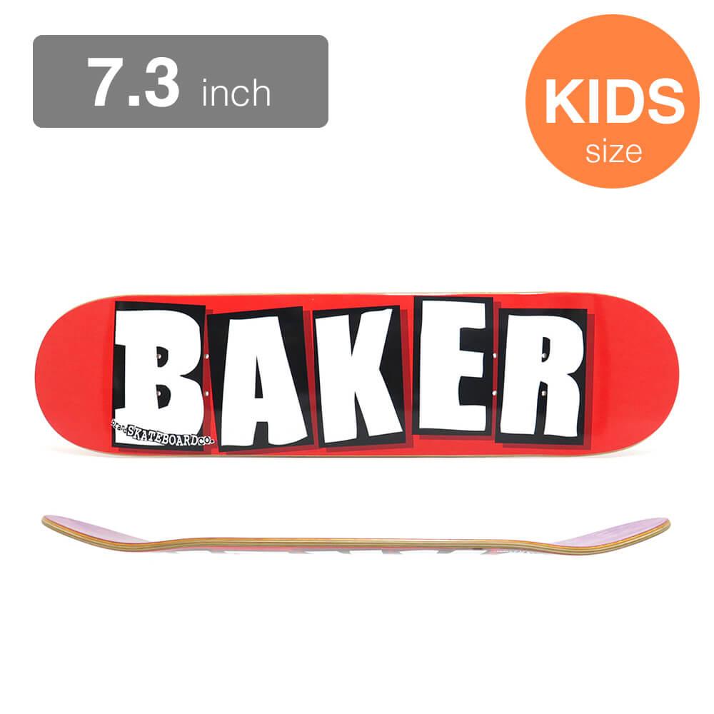 BAKER KIDS DECK ベイカー 子供用デッキ TEAM BRAND LOGO RED/WHITE 7.3 スケートボード スケボー SKATEBOARD