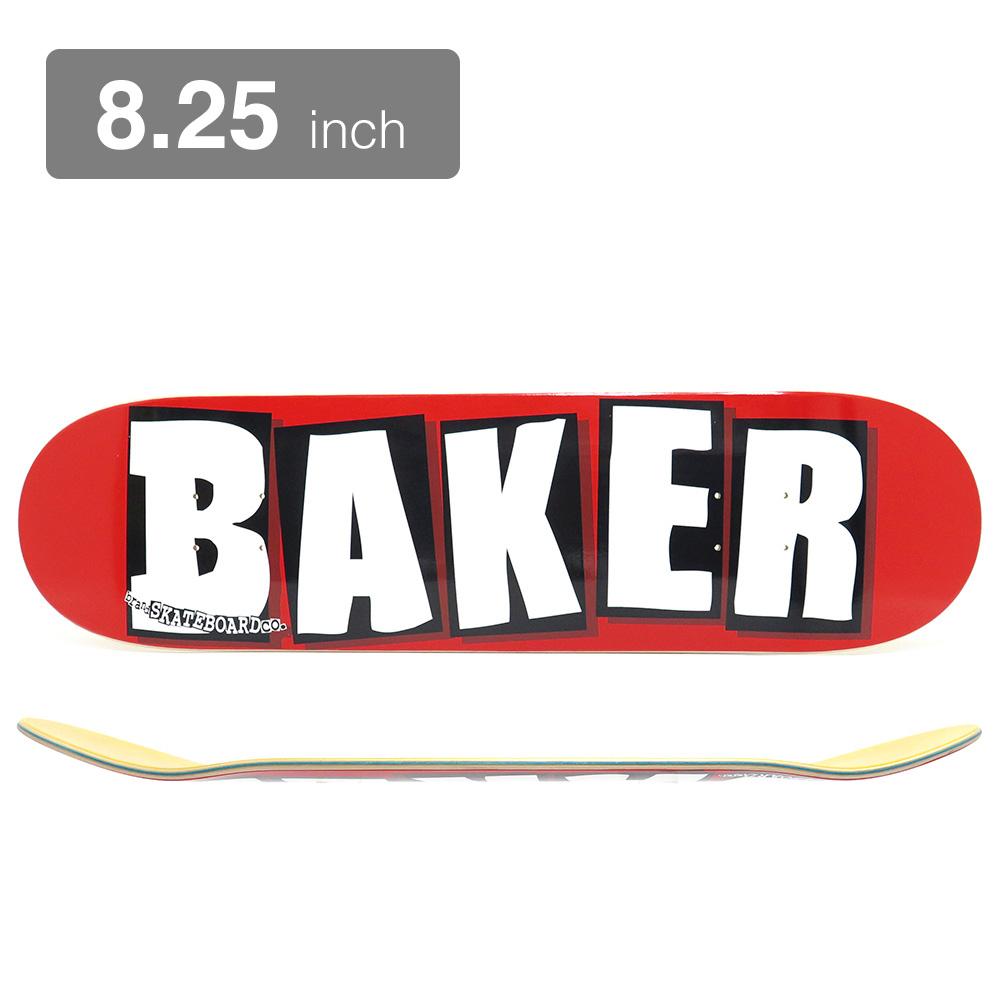 BAKER DECK ベイカー デッキ TEAM BRAND LOGO RED/WHITE 8.25 スケートボード スケボー SKATEBOARD