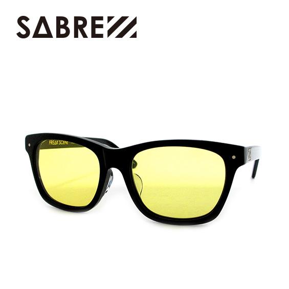 SABRE SUNGLASS セイバー サングラスFREAK SCENE GLOSS BLACK / LIGHT YELLOW スケートボード スケボー SKATEBOARD