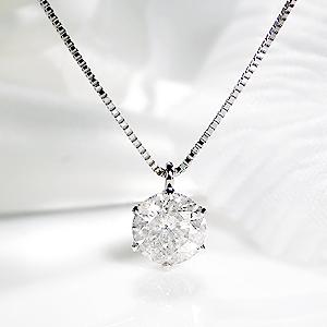 ☆pt900 【1.0ctUP】一粒 ダイヤモンド ペンダント【鑑定書付】/【送料無料】【代引手数料無料】プラチナ ダイヤモンド ネックレス ダイア ジュエリー ギフト プレゼント 婚約 diamond platinum 20P05Sep15