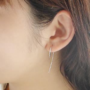 K18WG【 0.1ct】アメリカンフックピアス/ 送料無料 品質保証書 18k 18金 ホワイトゴールド ダイヤピアス ダイアモンド ピアス レディース ギフト プレゼント diamond pierced earrings 大ぶり フック