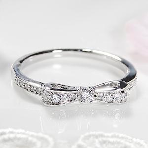 pt900 ダイヤモンド ハッピー リボン リング【0.2ct】 /【送料無料】【刻印無料】【代引手数料無料】【品質保証書】ダイヤ リング 指輪 レディース ジュエリー ダイア プラチナ りぼん プレゼント ギフト ribbon platinum ring diamond