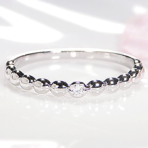 ☆Pt900 ドット 一粒 ダイヤモンドリング【SIクラス0.02ct】一粒ダイヤモンド リング ダイヤリング 華奢 可愛いリング プラチナ