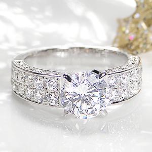 ☆pt900 中石大粒1.5カラット【H-SI2-Good】ダイヤモンド リング【2.5ct】/【鑑定書付】【送料無料】【刻印無料】1.5カラット プラチナ リング 1粒ダイヤ ダイア 指輪 ジュエリー プレゼント 結婚 diamond bridal ring jewelry