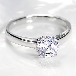 ☆pt950 一粒 ダイヤモンド リング【H-SI2-Good】【1.00ct】/【鑑定書付】【送料無料】【刻印無料】大粒 1カラット ダイヤ 1カラット 一粒ダイヤ プラチナ リング ダイアモンド 指輪 レディース ジュエリー プレゼント 結婚 diamond bridal ring