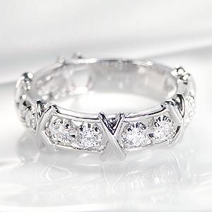pt900 ダイヤモンド リング【0.5ct】 /おしゃれ 人気 可愛い プラチナ ダイア ダイヤ 0.5カラット sweet 指輪 レディース ジュエリー クロス テンダイヤモンド ギフト プレゼント diamond platinum ring 記念日 スイート