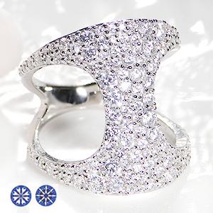 pt950 ハートアンドキューピッド ダイヤモンド パヴェ リング【1.8ct】pave おしゃれ 人気 プラチナ ダイア ハートキュー 指輪 レディース ジュエリー ギフト プレゼント diamond platinum ring パヴェリング