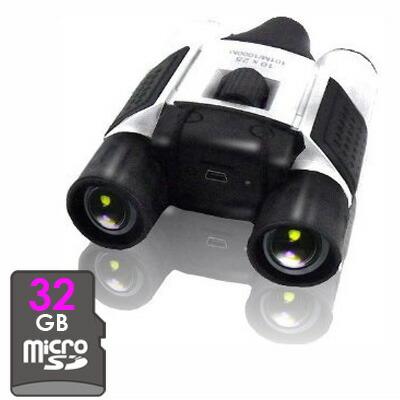 【あす楽対象・送料無料】10倍ズーム双眼鏡ビデオカメラ!! -録画機能が搭載された画期的な双眼鏡型カメラ- もちろん音声も録音可能 すぐにご利用可能な32GB装着済み\(^o^)/ 【消費税込み】【セール対象商品】【送料込み】