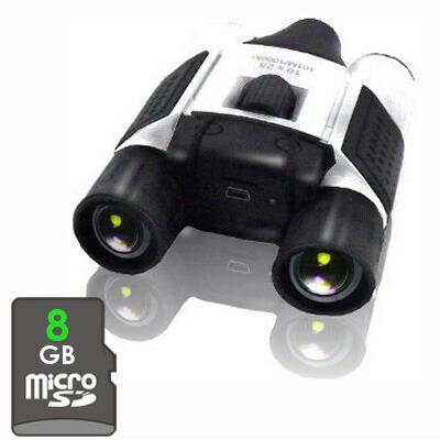 【あす楽対象・送料無料】10倍ズーム双眼鏡ビデオカメラ!! -録画機能が搭載された画期的な双眼鏡型カメラ- もちろん音声も録音可能 すぐにご利用可能な8GB装着済み\(^o^)/ 【消費税込み】【セール対象商品】【送料込み】