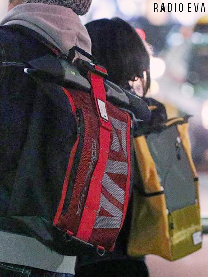 <送料無料>【RADIO EVA】EVANGELION ROLL BACK PACK by FIRE FIRST | RADIO EVA EVANGELION エヴァンゲリオン コラボ バックパック バック リュック メンズ レディース ユニセックス 黒 ブラック 赤 レッド 黄 イエロー 緑 オリーブ 紺 ネイビー 紫 パープル