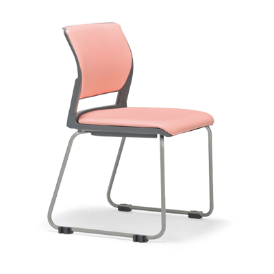 【送料無料】会議用チェア4脚セット パイプ椅子 粉体塗装脚 肘掛なし 【個人宅不可】 MC-251WG