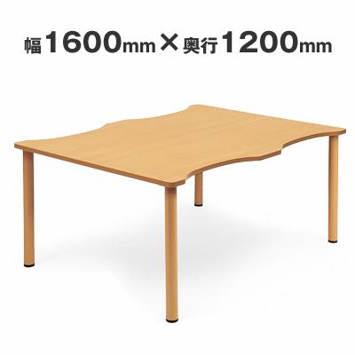 【送料無料】施設テーブル 粉体塗装脚 幅1600×奥行き1200 AICO(アイコ) 【個人宅不可】NST-1612