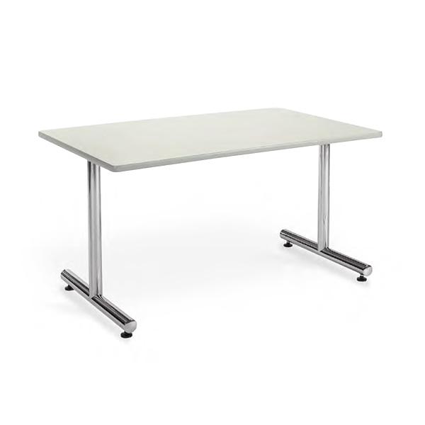 会議用テーブル 幅1200×奥行750 角形 クロームメッキ仕上脚 AICO(アイコ) 【個人宅不可】MT-1275K