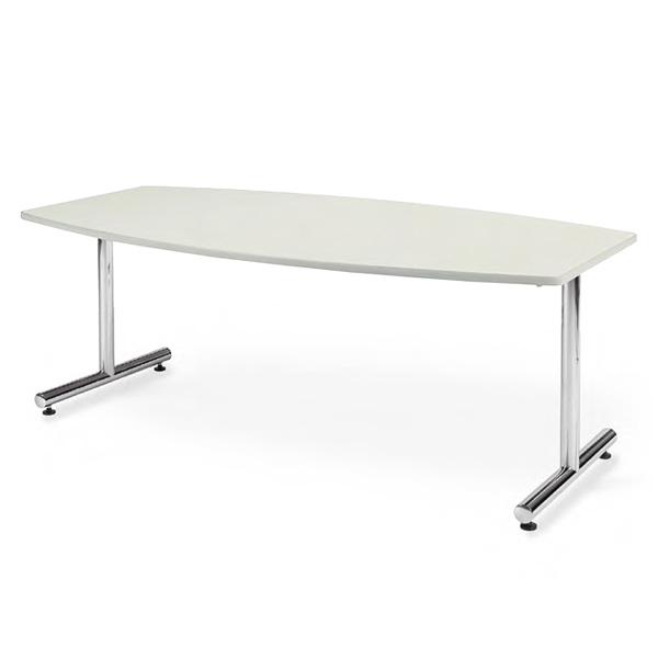 会議用テーブル/クロムメッキ仕上げ/ボート形/幅1800×奥行き900/AICO(アイコ)/MT-1890B