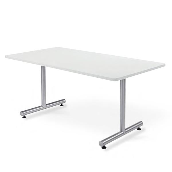 会議用テーブル 幅1500×奥行750 角形 粉体塗装仕上脚 AICO(アイコ) 【個人宅不可】MTS-1575K
