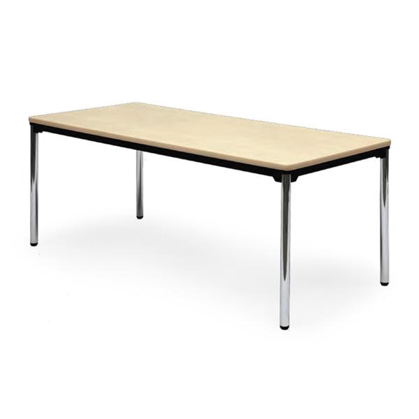 会議用テーブル 幅1800×奥行750 棚なし φ38.1mmクロムメッキ脚 AICO(アイコ) 【個人宅不可】AT-1875SE