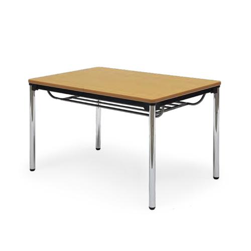 会議用テーブル 幅1200×奥行750 棚付き φ38.1mmクロムメッキ脚 AICO(アイコ) 【個人宅不可】ATS-1275SE