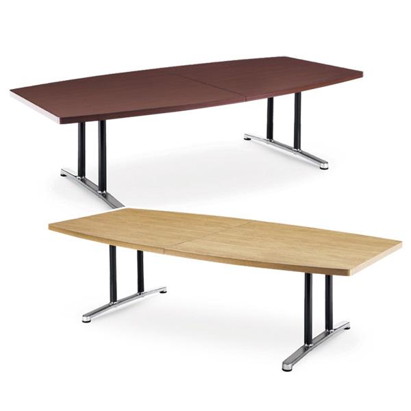 【送料無料】会議用テーブル 幅2400×奥行1200 ボート形 AICO(アイコ) 【個人宅不可】DWL-2412B