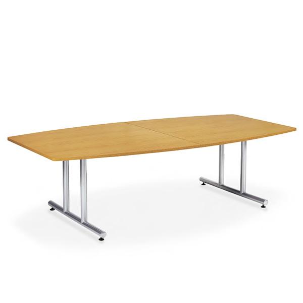 【送料無料】会議用テーブル 幅2400×奥行1200 ボート形 AICO(アイコ) 【個人宅不可】DWS-2412B