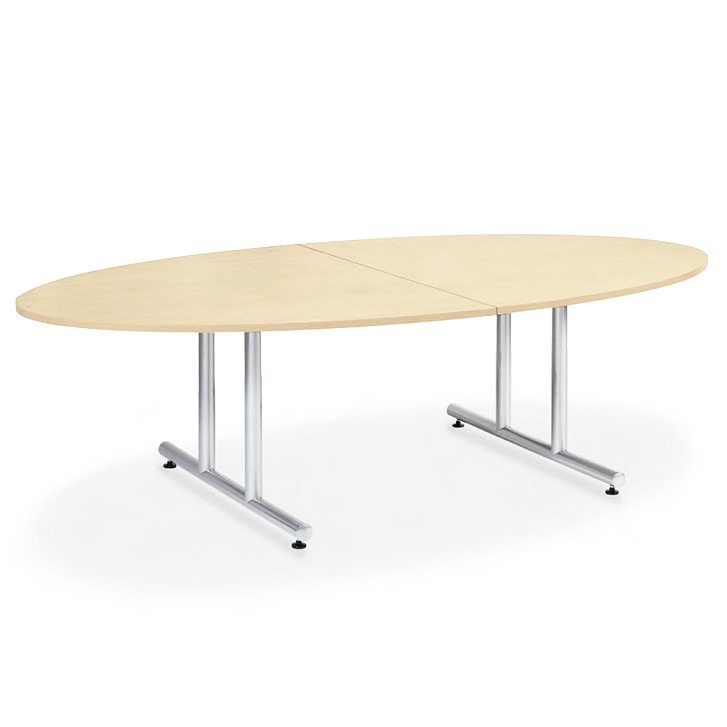 【送料無料】会議用テーブル 幅2400×奥行1200 タマゴ形 AICO(アイコ) 【個人宅不可】DWS-2412E