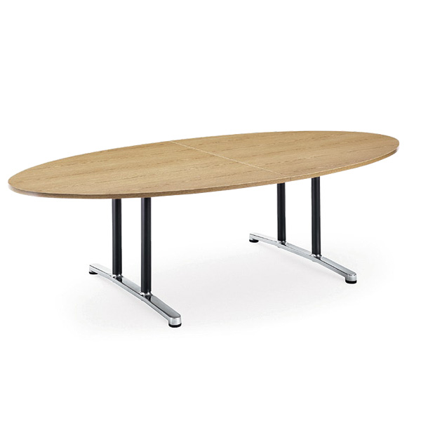 【送料無料】会議用テーブル 幅2400×奥行1200 タマゴ形 AICO(アイコ) 【個人宅不可】WAL-2412E
