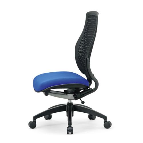 オフィスチェア 背もたれが身体に合わせてしなやかにフィット! 座面色選択可 AICO(アイコ) 【個人宅不可】ハイバック 肘なし MA-1525X-BK
