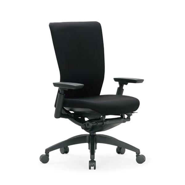 【送料無料】オフィスチェア ミドルバック 可動肘 樹脂脚 AICO(アイコ) 【個人宅不可】R-5515