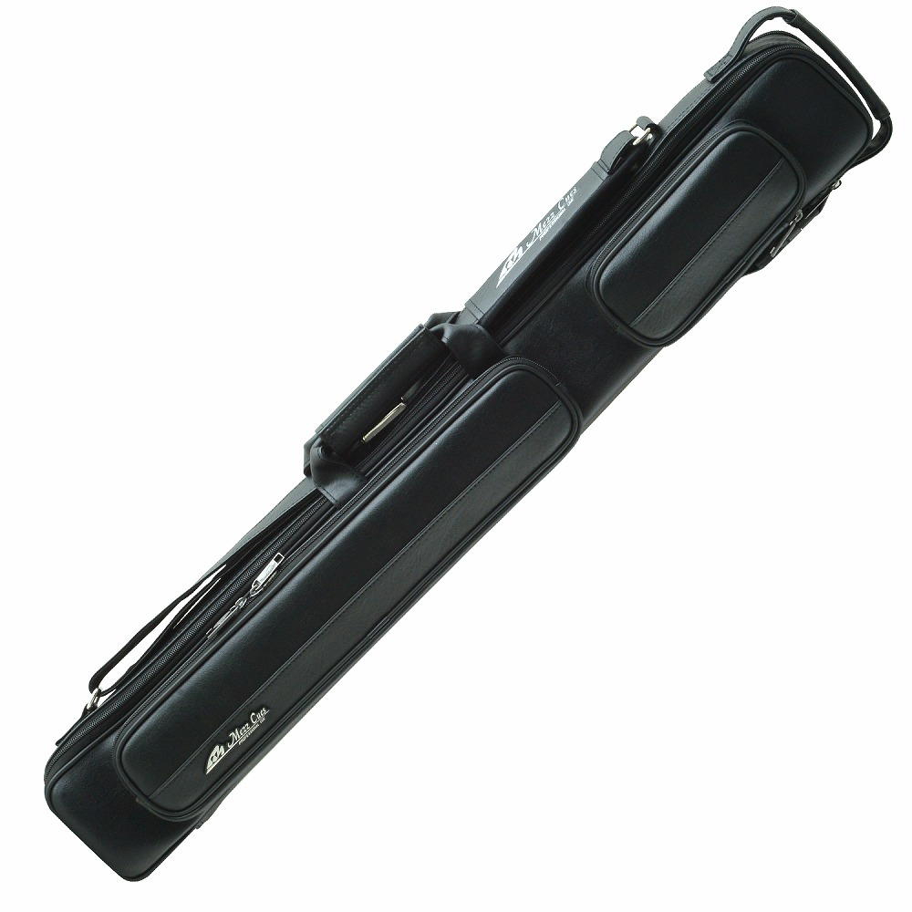 ビリヤード キューケース Mezz MZ-24K 黒 ブラック (バット2本シャフト4本収納) 国内 国産 メーカー ブランド メッズ メッヅ コスパ 人気 保護 軽量 レザー おしゃれ デザイン 収納