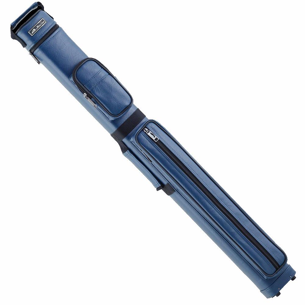 ビリヤード キューケース Mezz MO-23B ブルー (バット2本シャフト3本収納) 国内 国産 メーカー ブランド メッズ メッヅ コスパ 人気 保護 軽量 レザー おしゃれ デザイン 収納